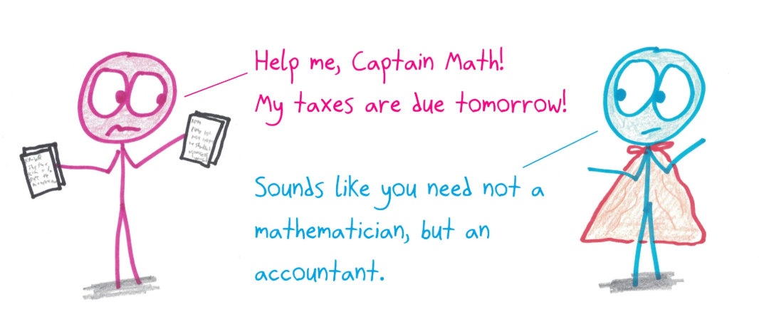 Help me, Captain Math! My taxes are due tomorrow!