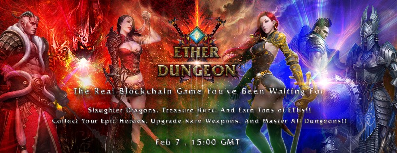 introduction to ether dungeon strategy blockchain game