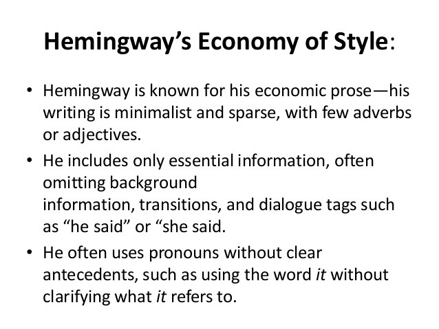 on the topic of hemingway editor the writing cooperative taken from slideshare user hande tercan hemingway operated on the iceberg theory