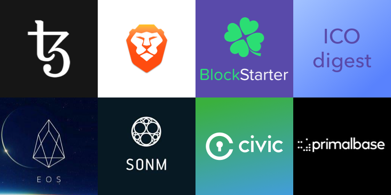 BAT, Tezos, EOS, PrimalBase, <bold>Civic</bold>, SONM — a digest of passed ICOs by BlockStarter