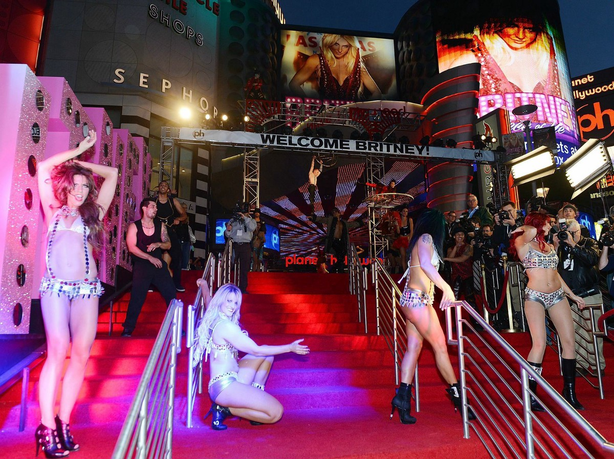 Britney Spears's Las Vegas Welcome. (Denise Truscello/ WireImage via Getty  Images)