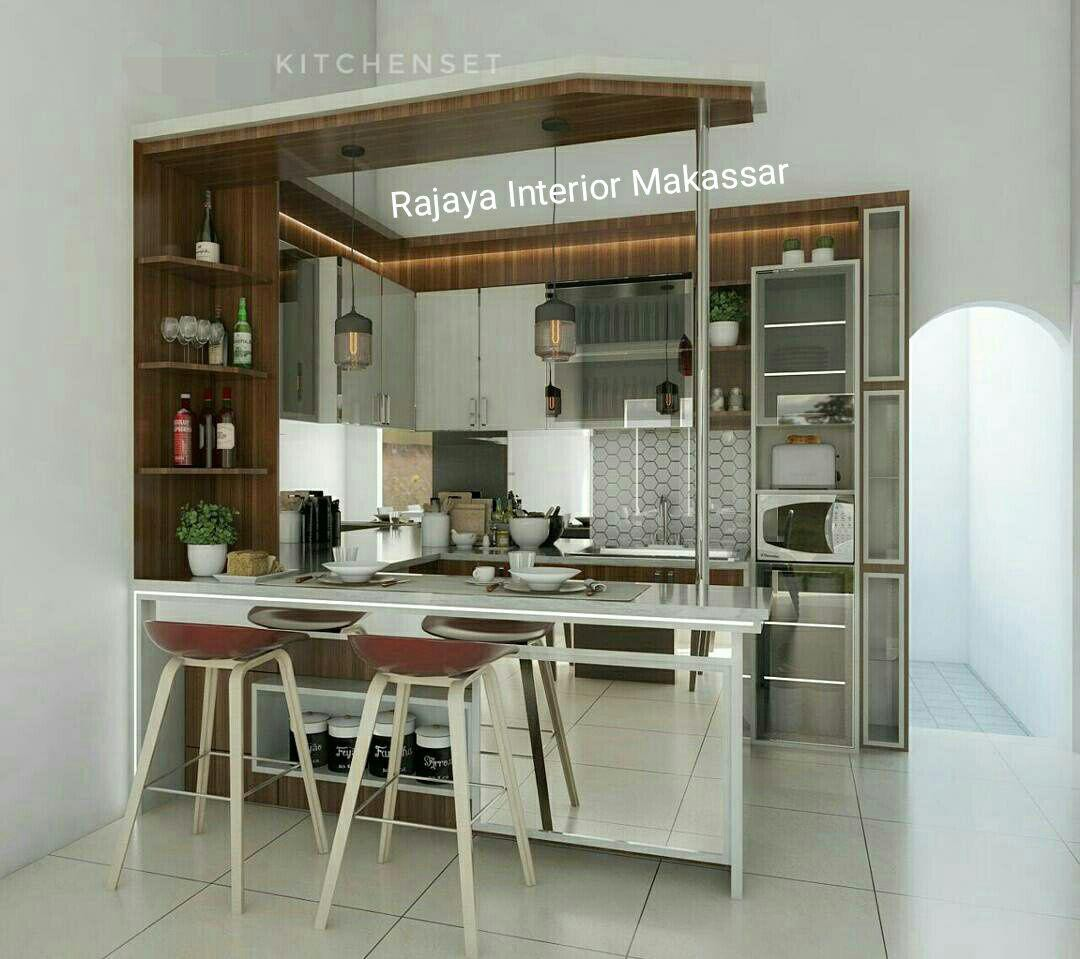 Jasa desain kitchen set mini bar makassar