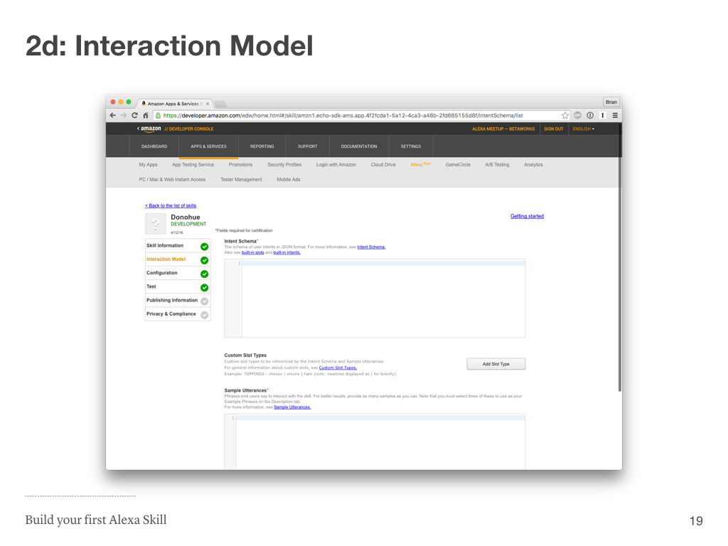 Step 2d: Interaction Model