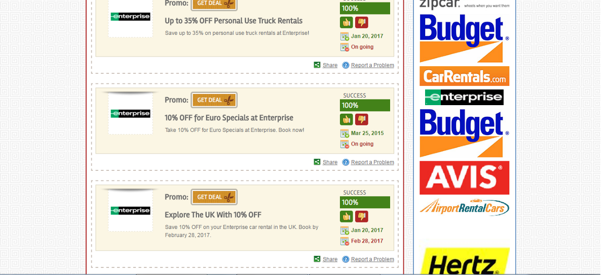 Enterprise rental car coupons discounts codes