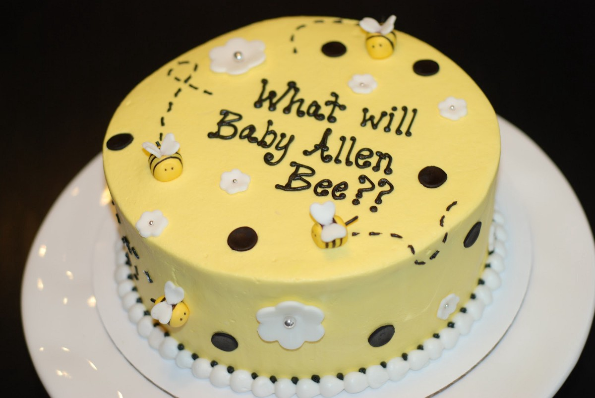 Last But Certainly Not Least Is This What Will It Bee Gender Reveal Cake By Something Sweet