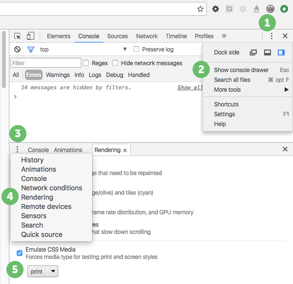 Print Style Emulation In Chrome