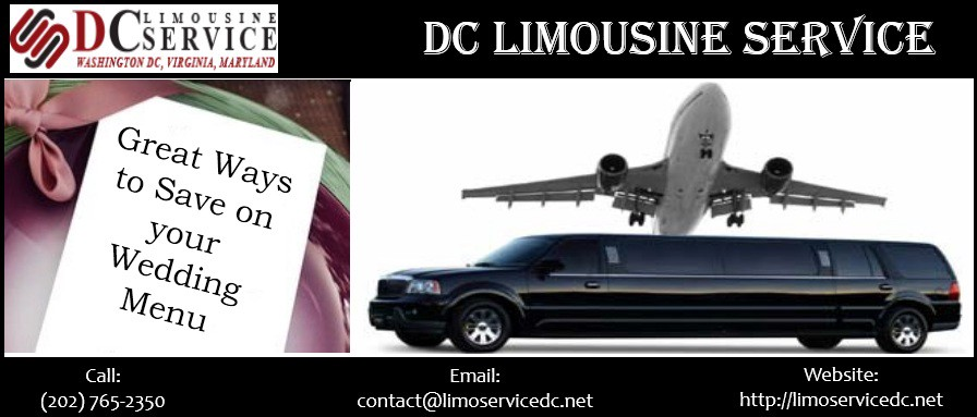 Great Ways to Save on your Wedding Menu – Limo service Dc