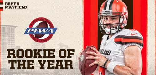 c141e20b893 Rookie of the Year  Baker Mayfield. Yes