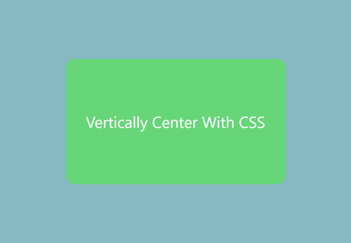 Can you vertically center in css usama tahir medium - Css center absolute div ...