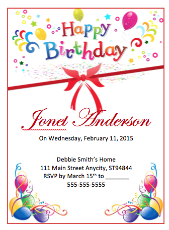 free birthday party flyer template ms word flyers medium