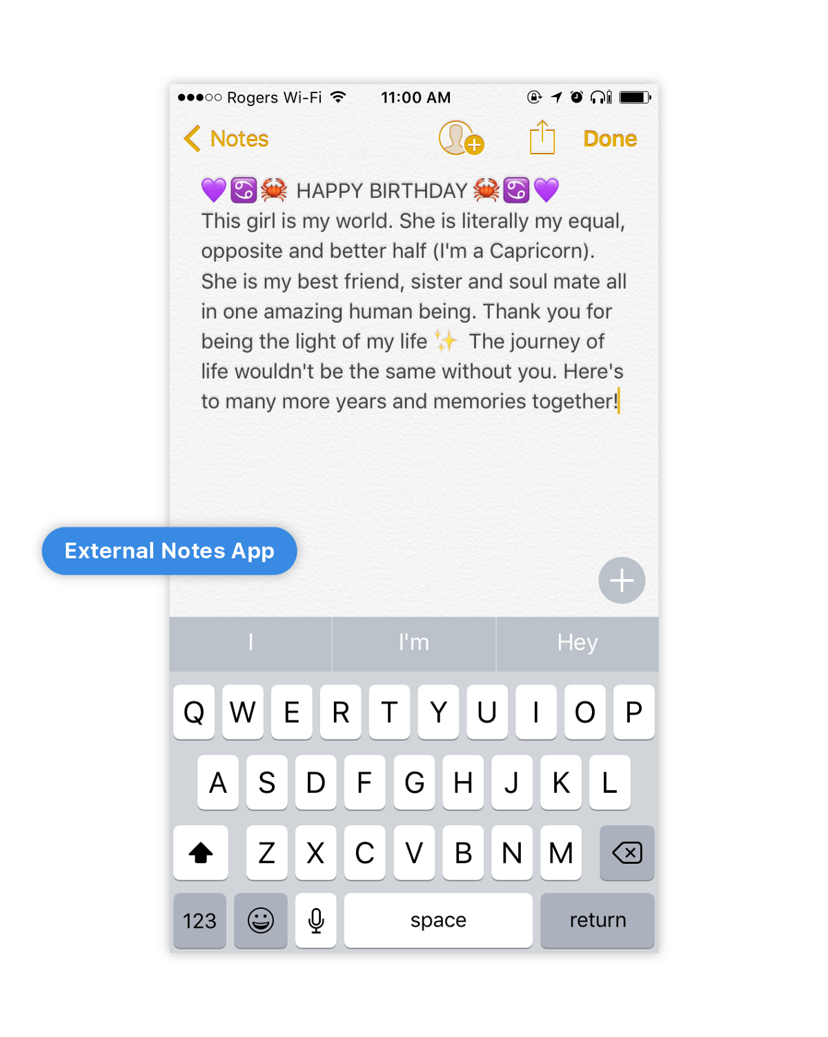 writing a birthday message