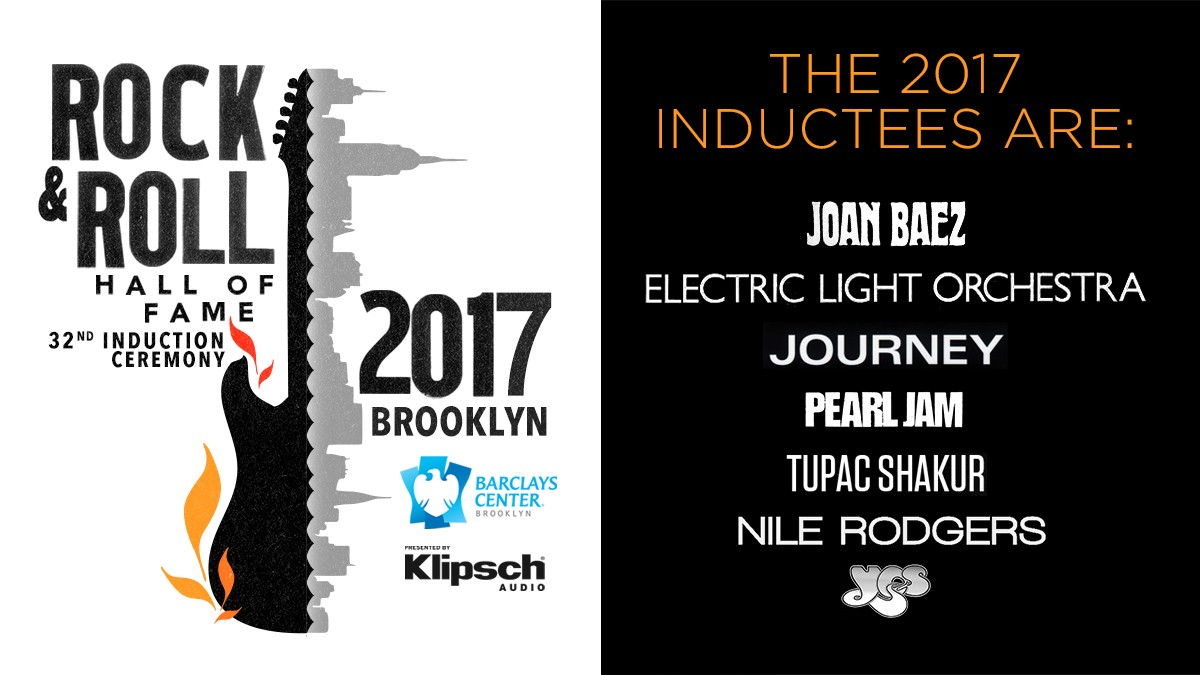THE ROCK & ROLL HALL OF FAME ANNOUNCES 2017 INDUCTEES