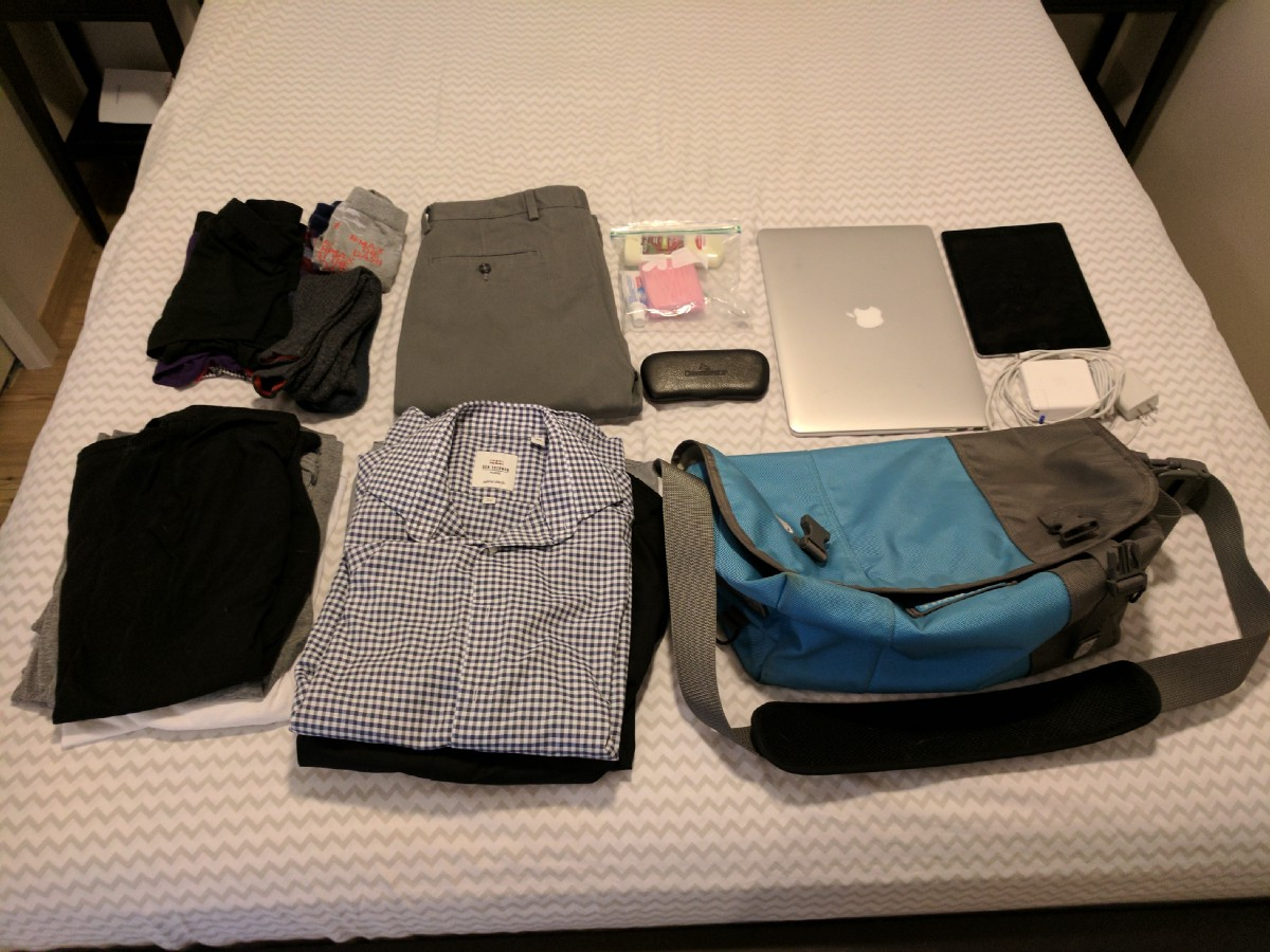 how to pack for a 3 day trip