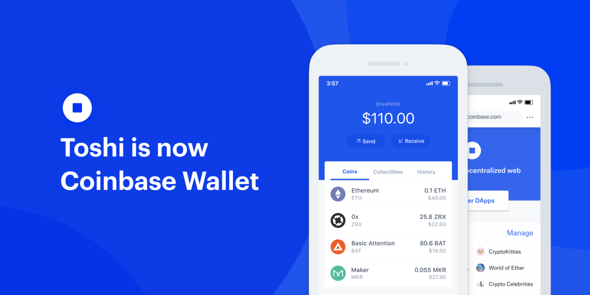 Goodbye Toshi, hello Coinbase Wallet — the easiest and most secure crypto wallet and browser