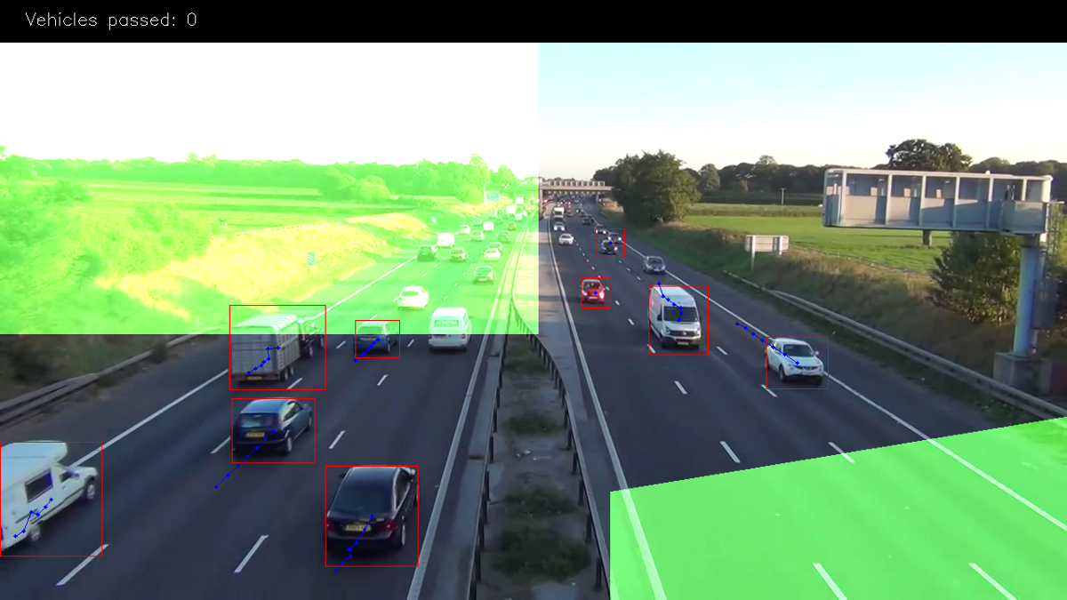 tutorial  making road traffic counting app based on computer vision and opencv