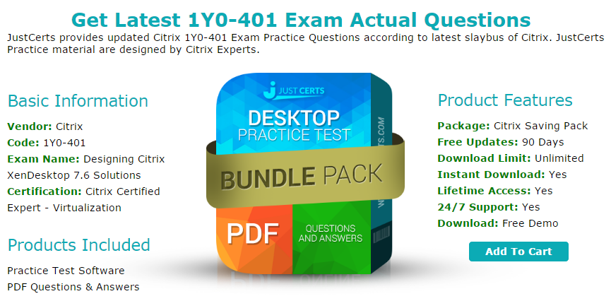 Latest 1Y0-401 Citrix Certified Expert — Virtualization Exam ...