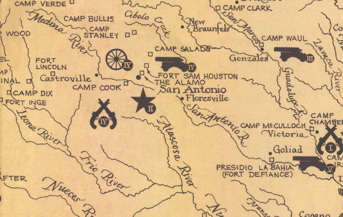 Map Of Texas During The Alamo.Texas Land Commissioner Jerry Patterson S Great Military Map Of