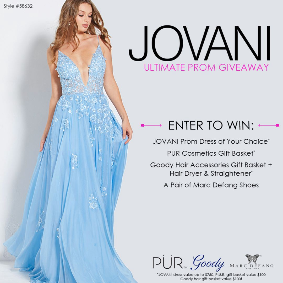 ffe0a271a5 Enter to  win the ultimate prom giveaway. Prize includes a JOVANI prom dress  of your choice