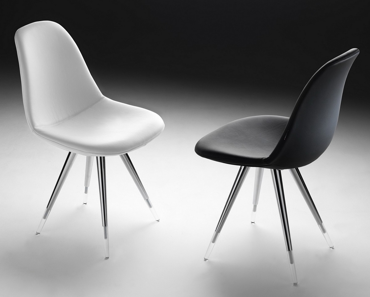 Chairs Covered With Leather Or Vinyl, With Chrome Frames Perfectly Fit Into  Modern Kitchens And Dining Rooms.