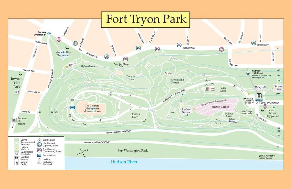 Fort Tryon Park Map The Map to Fort Tryon Park – Before8 Fort Tryon Park Map
