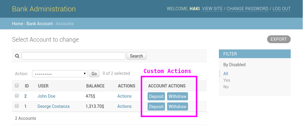 How to add custom action buttons to django admin haki benita medium django admin interface with custom action buttons maxwellsz