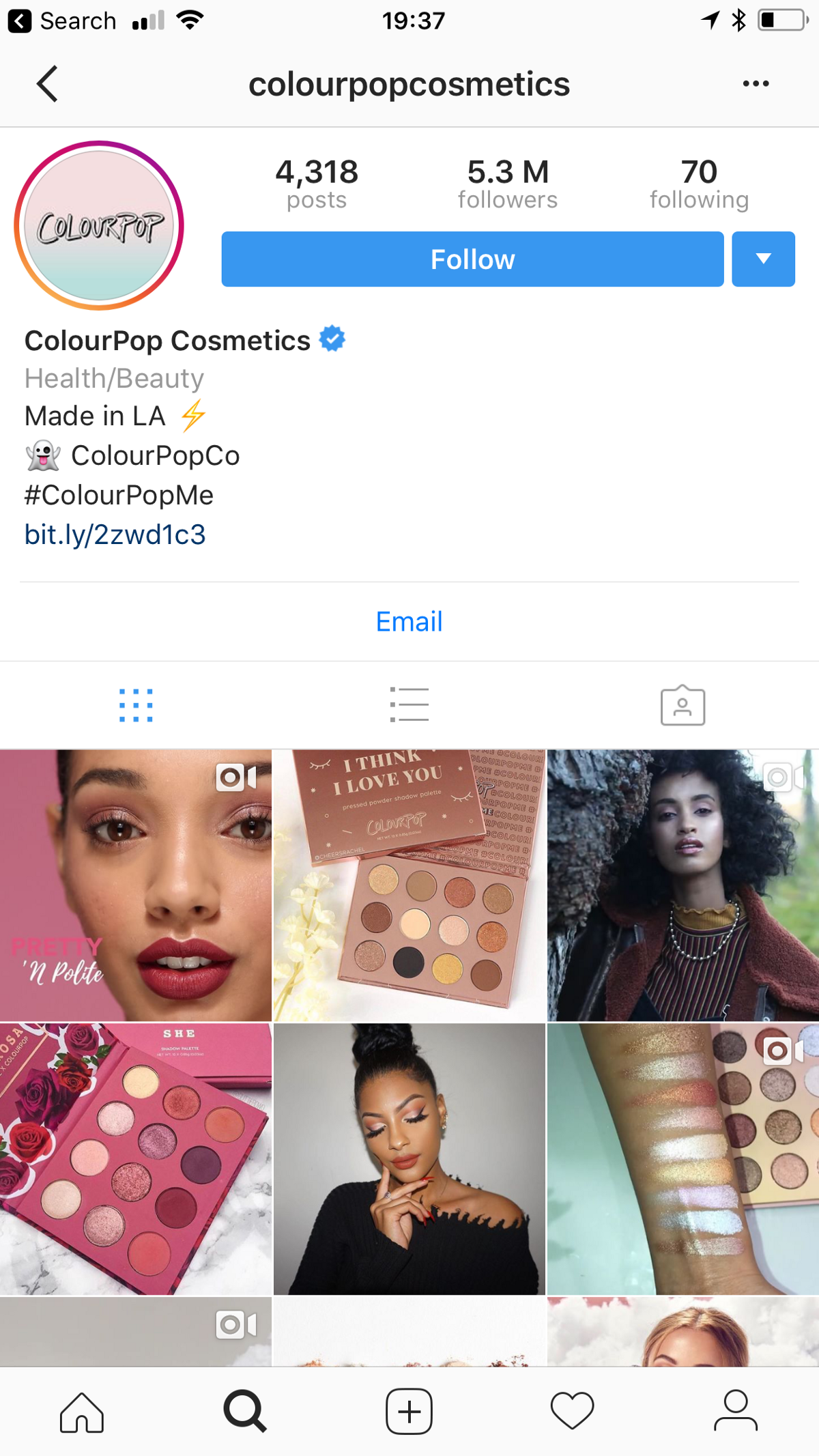 853ee4b2a At the time of writing this article, ColourPop has a whopping 5.3m Instagram  followers.