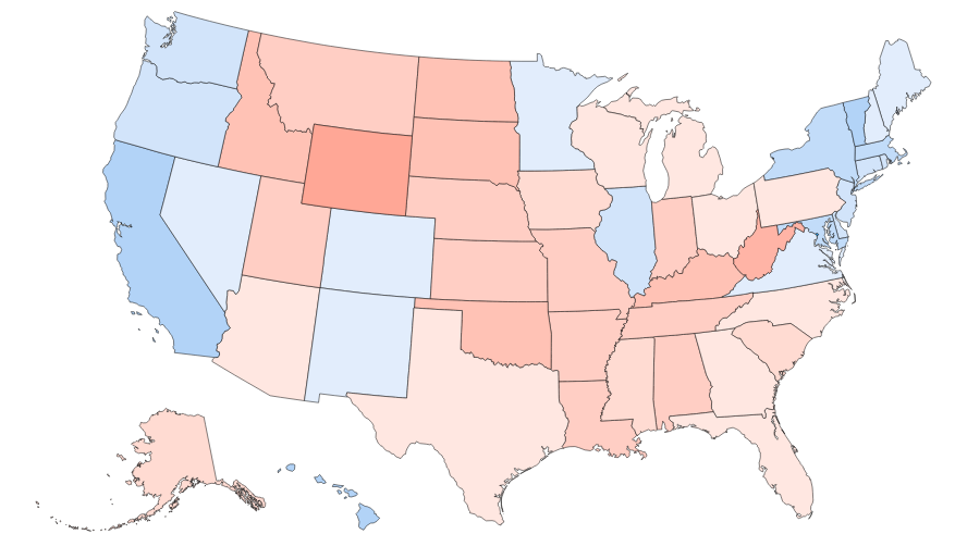 Trump Won States Map.Clinton Would Have Won If The United States Looked Like This