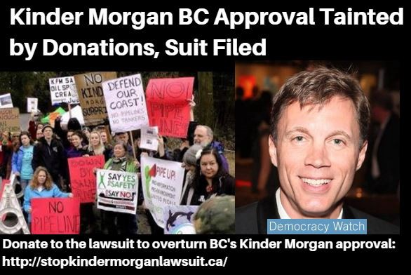 Kinder Morgan BC Approval Tainted by Donations, Suit Claims