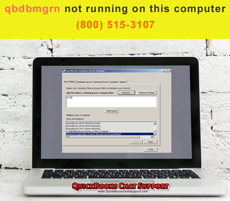 QuickBooks Database Issue: qbdbmgrn Not Running on This Computer Server