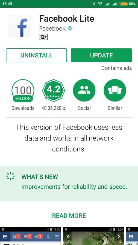 facebook could not be downloaded at this time