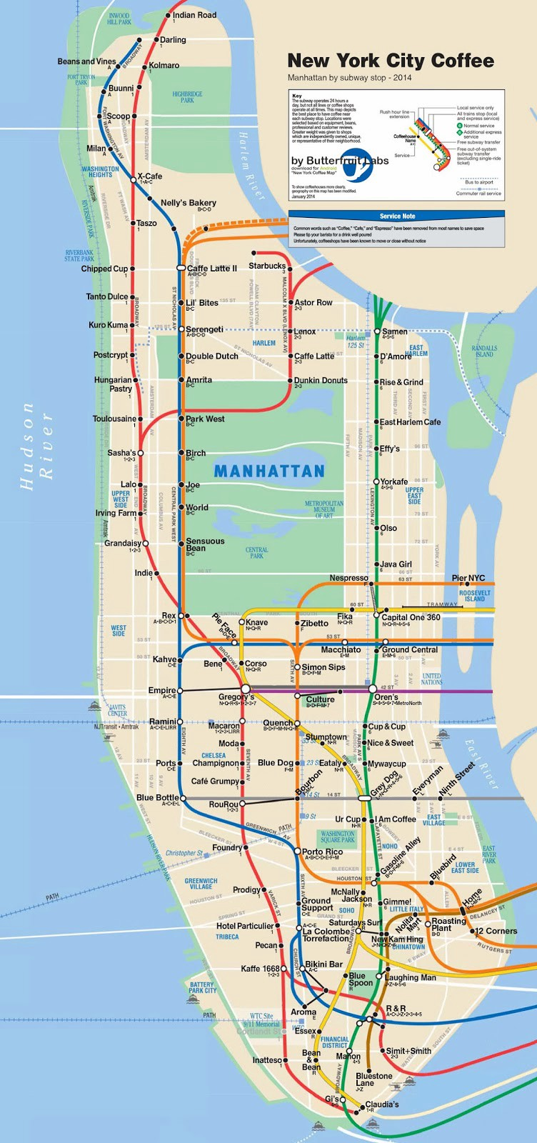 Nyc Map It.Best Coffee The Only Map Of Nyc You Ll Ever Need Before8