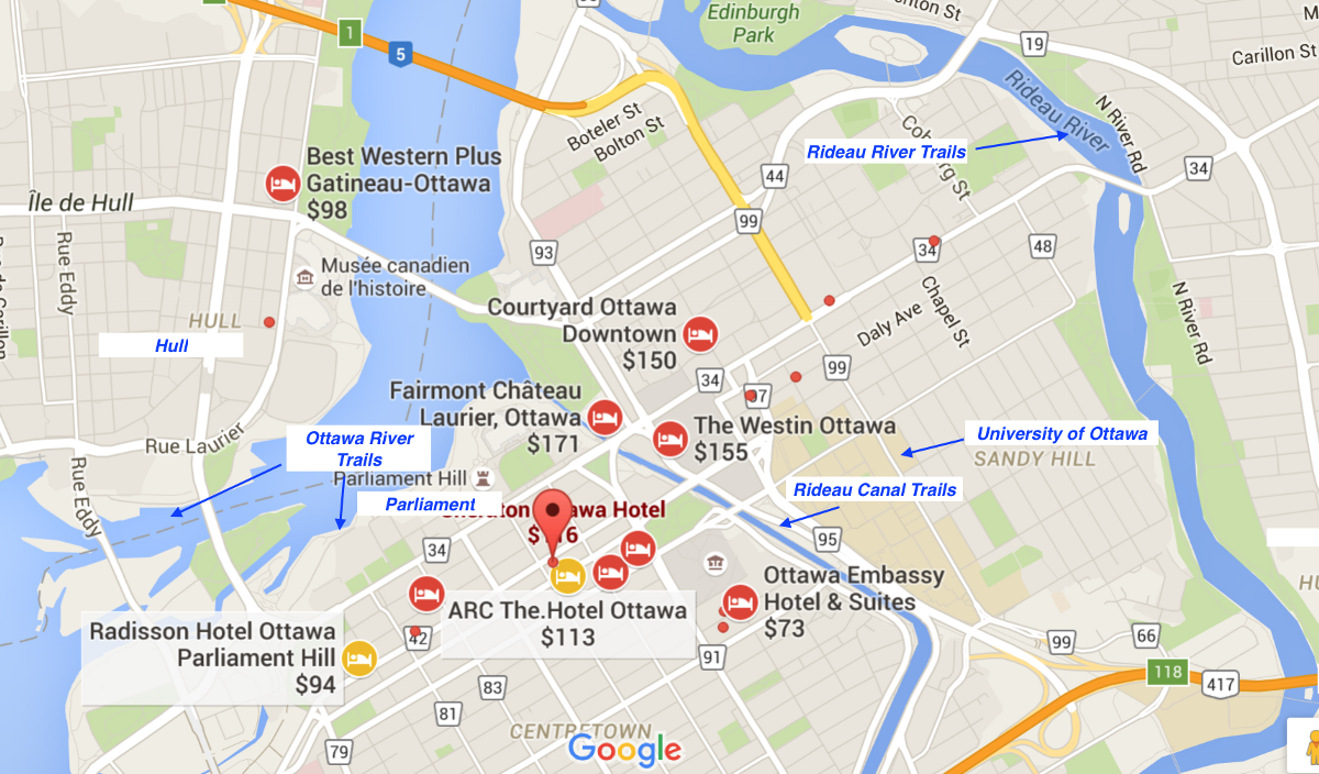 Most Of The Hotels In Ottawa Are Cered Downtown Near Parliament To South Colonel By Dr Queen St Elgin And Laurier Ave Areas