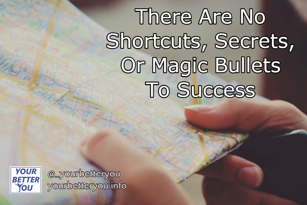 There Are No Shortcuts Secrets Or Magic Bullets To Success