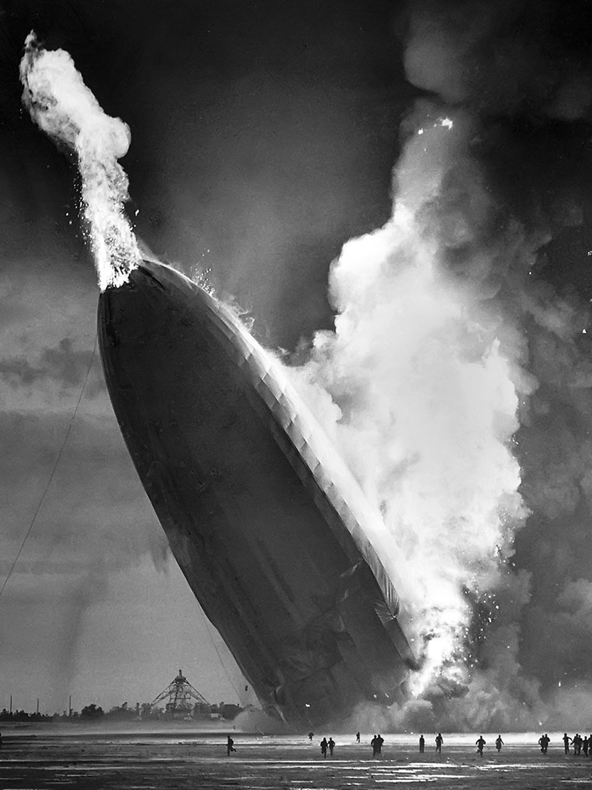 The Hindenburg was completely destroyed in a matter of seconds