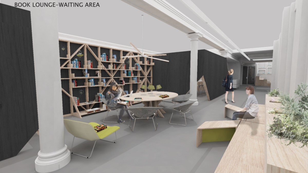 Rendering Of The Library / Waiting Area In Our New Office.
