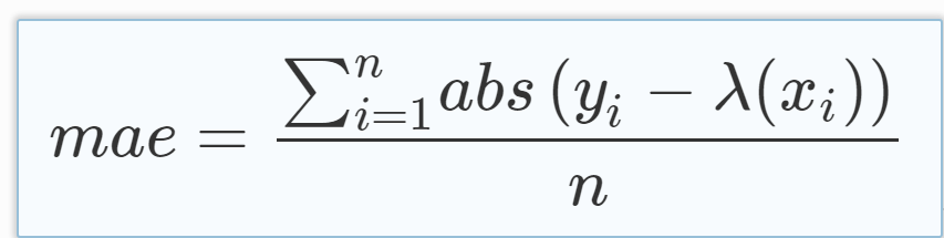 how to calculate mean absolute error