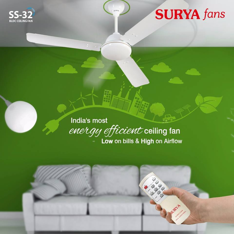 32 ceiling fan vintage metal surya roshni has variety of efficient ceiling fans available in india with their models and prices it also presents bldc technology such as fan ss32 energy saving ceiling fans pradeep jaiswal