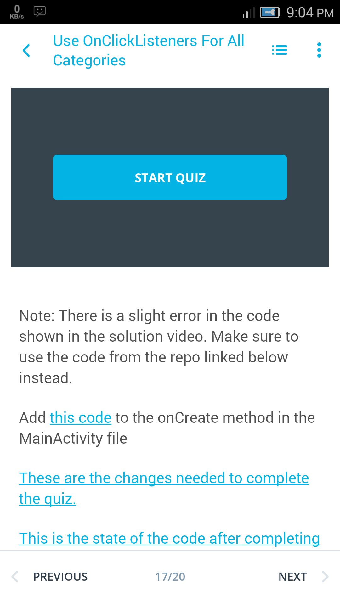 Everytime i am going to watch video using udacity android app in