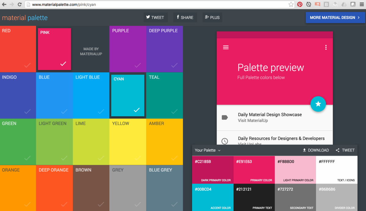 Adding A Material Design Color Palette To Your Angular