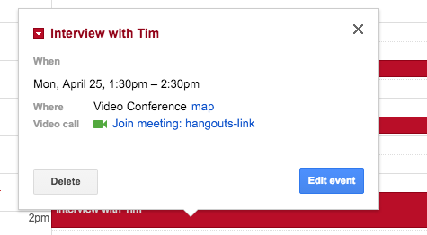 How To Add Google Calendar Hangouts Links To Mac And Ios Calendar Events