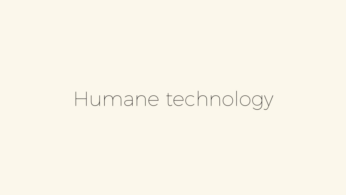 Human scale technology — Medium
