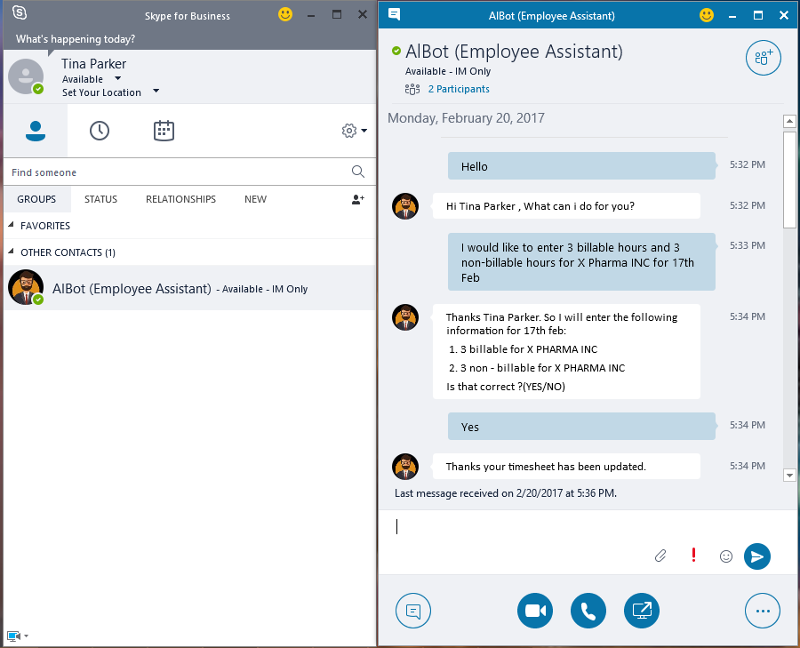 how to create a permanent group chat on skype for business