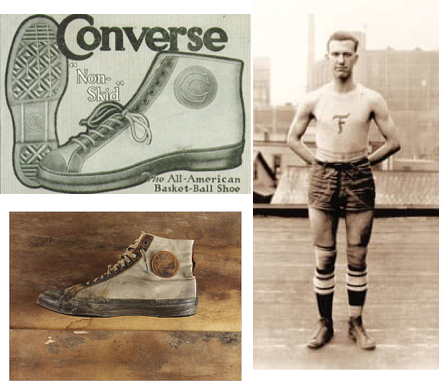 The converse rubber company first released their Non-skids in 1917 as  basketball and soccer shoe and soon after signed an amateur basketball  player by the ... 68fb1cfc8