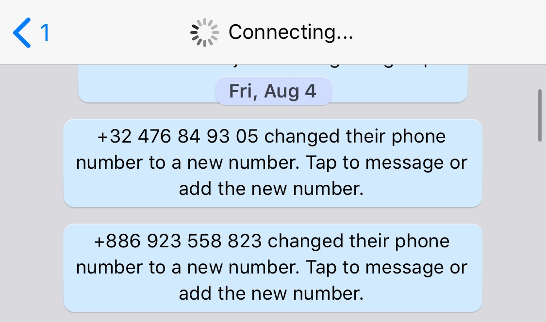 whatsapp number of users