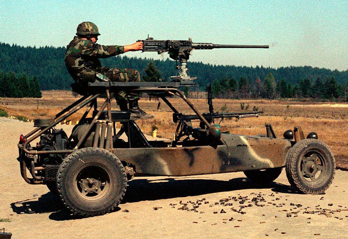 the u s  army had a whole battalion of armed dune buggies