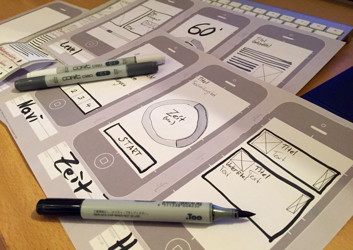 iOS Interaction Design Workflow —  Combining Pen&Paper, Sketch and Axure