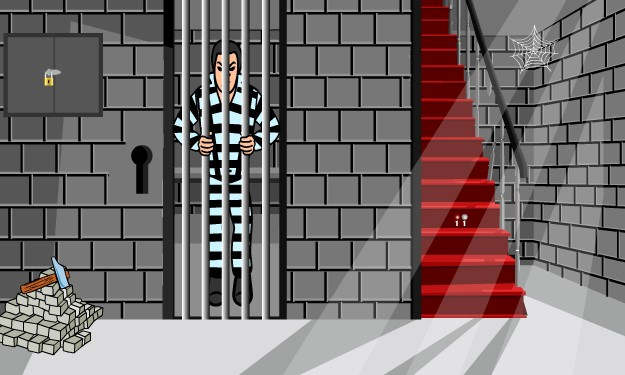 ... playing the escape game by breaking out lock, make the police officer  to sleep and get the key from him, then escape to win your freedom.