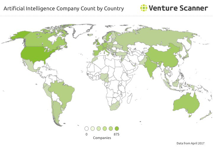 Where In The World Are Artificial Intelligence Startups Q2 2017