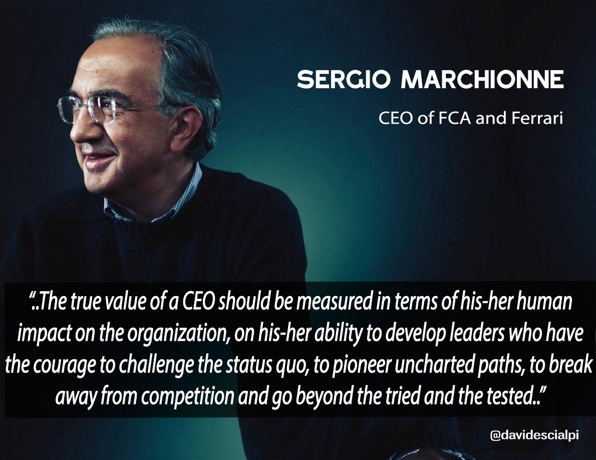 Sergio Marchionnes Quotes About Success And Leadership Selected By