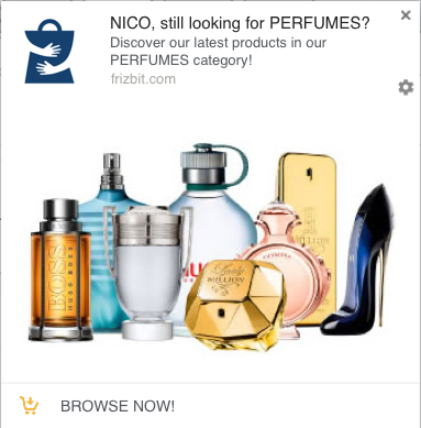 Category Retargeting Notification Example